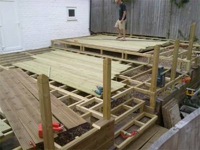 Deckingdriveway patio landscape specialists rustington for Decking framework timber