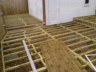 Deck framing for Decking framework timber