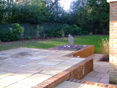 Garden Design Brick Wall Raised Patio Wall 9 Garden Design Brick Wall Raised  Patio Pc By LK Installers Ltd. Driveway Patio And Landscape Garden Design  ...