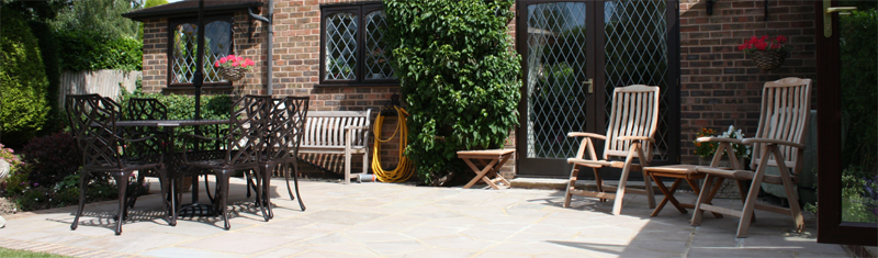 patio header indian sandstone pulborough