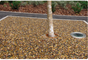 resin tree surround porous for drainage