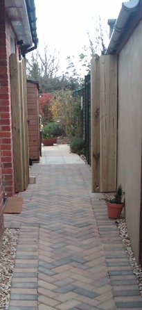 block paved path herring bone bognor