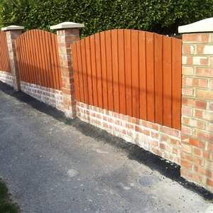 brick pillar fence