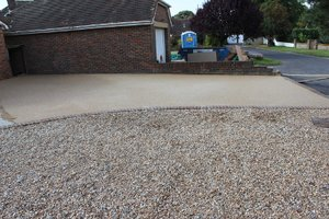 resin bound driveway part complete
