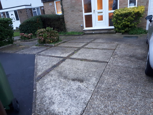 Remove concrete lay lawn and purbeck